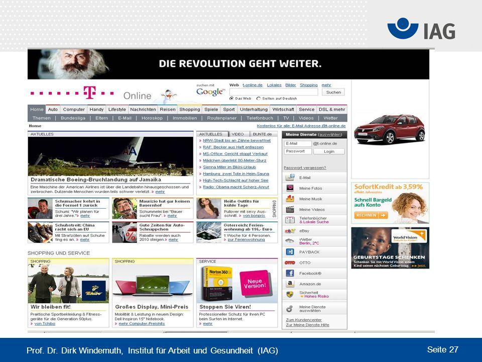 www.t-online.de Prof. Dr. Dirk Windemuth, Institut für Arbeit und Gesundheit (IAG)