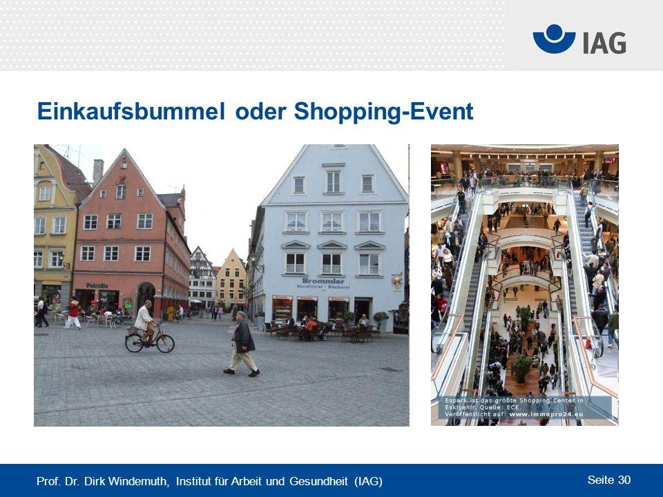 Einkaufsbummel oder Shopping-Event