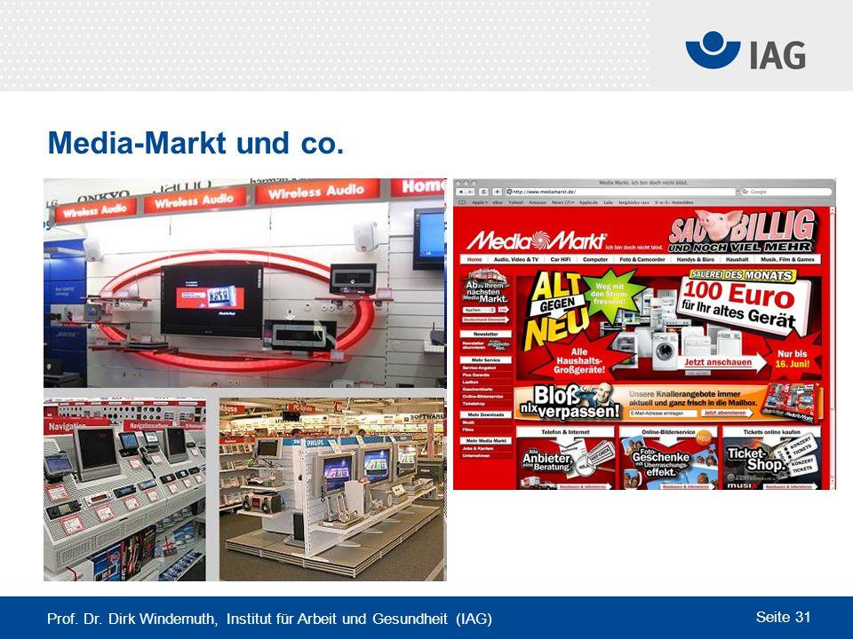 Media-Markt und co. Prof. Dr. Dirk Windemuth, Institut für Arbeit und Gesundheit (IAG)