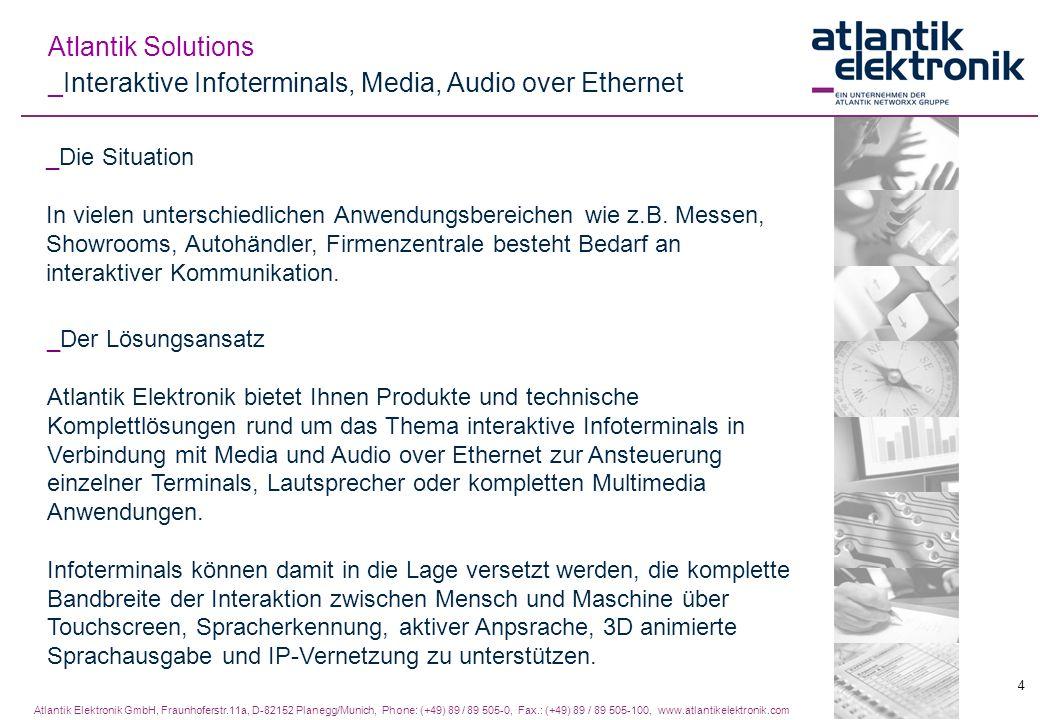 _Interaktive Infoterminals, Media, Audio over Ethernet