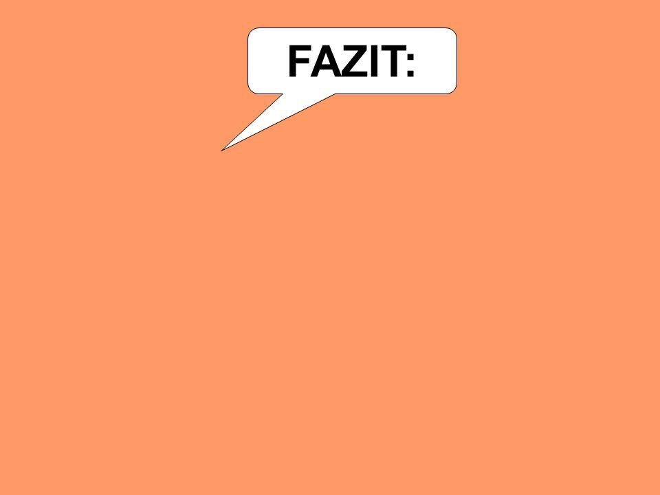 FAZIT: