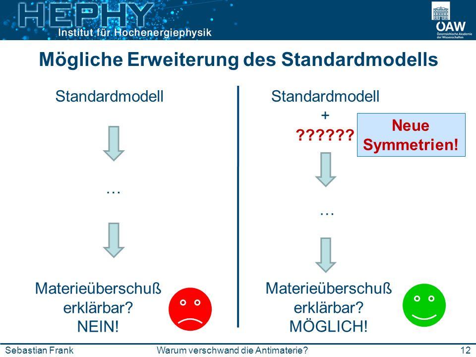 Mögliche Erweiterung des Standardmodells