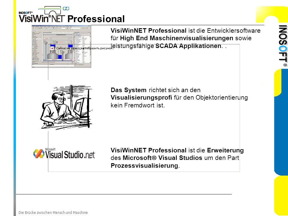 Professional VisiWinNET Professional ist die Entwicklersoftware für High End Maschinenvisualisierungen sowie leistungsfähige SCADA Applikationen. .