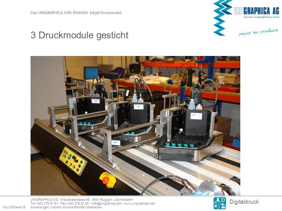Das UNIGRAPHICA DJM IPAS425i Inkjet-Druckmodul