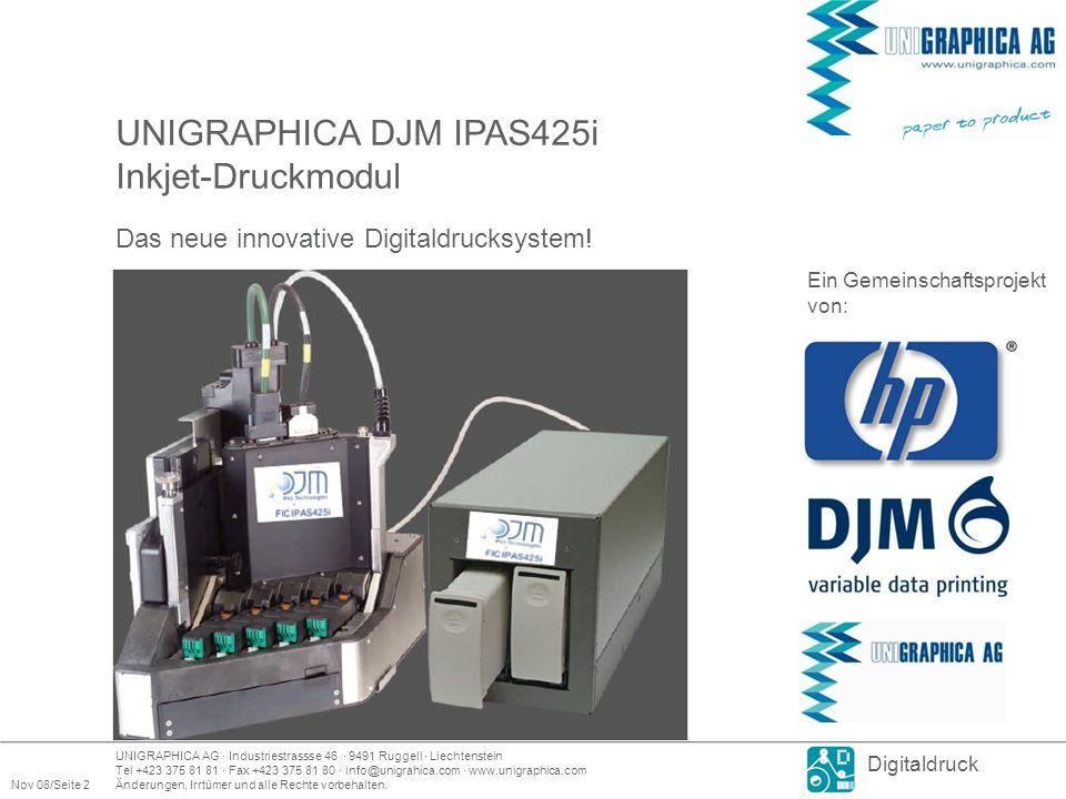 UNIGRAPHICA DJM IPAS425i Inkjet-Druckmodul