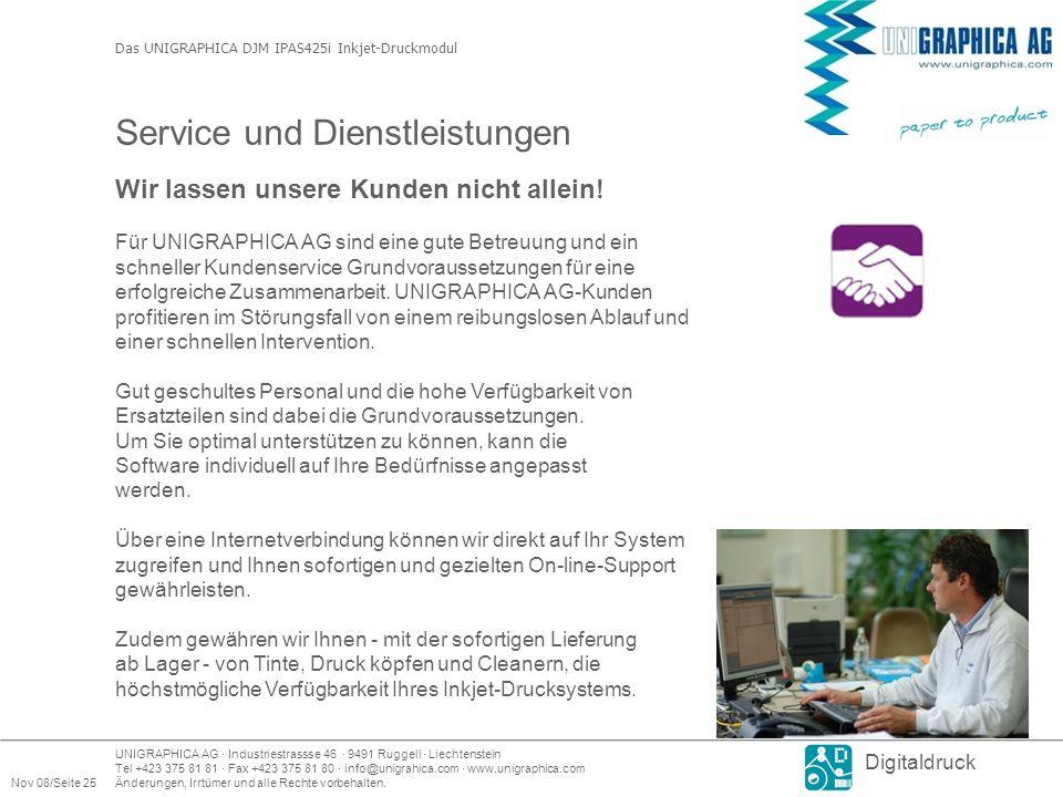 Service und Dienstleistungen