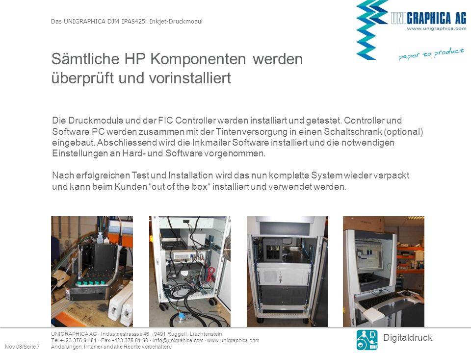 Sämtliche HP Komponenten werden überprüft und vorinstalliert