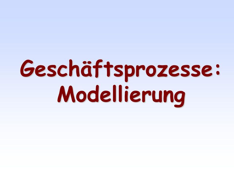 Geschäftsprozesse: Modellierung