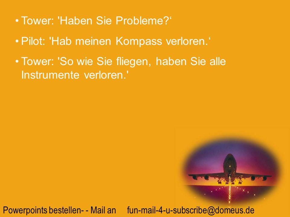 Tower: Haben Sie Probleme '