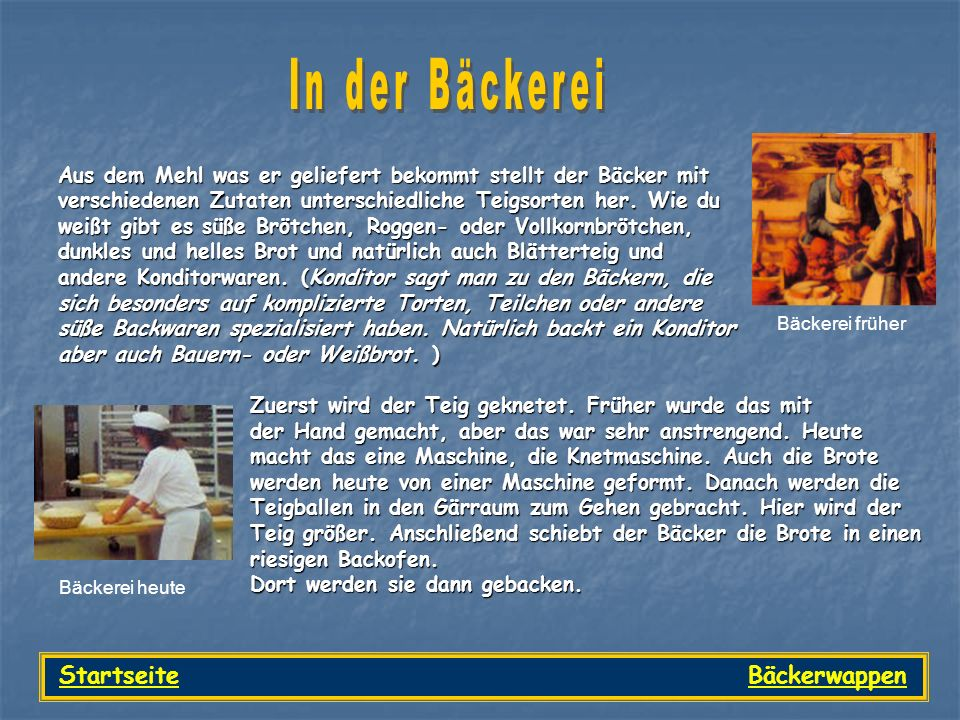 Startseite Bäckerwappen