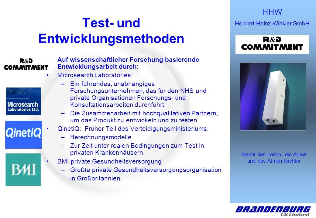 Test- und Entwicklungsmethoden