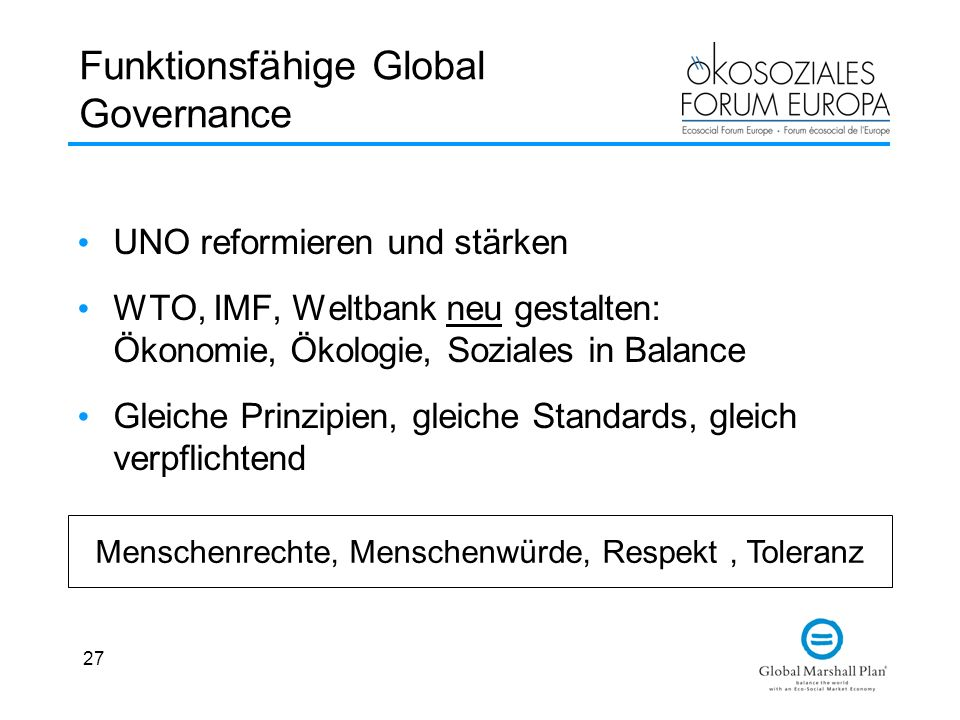 Funktionsfähige Global Governance