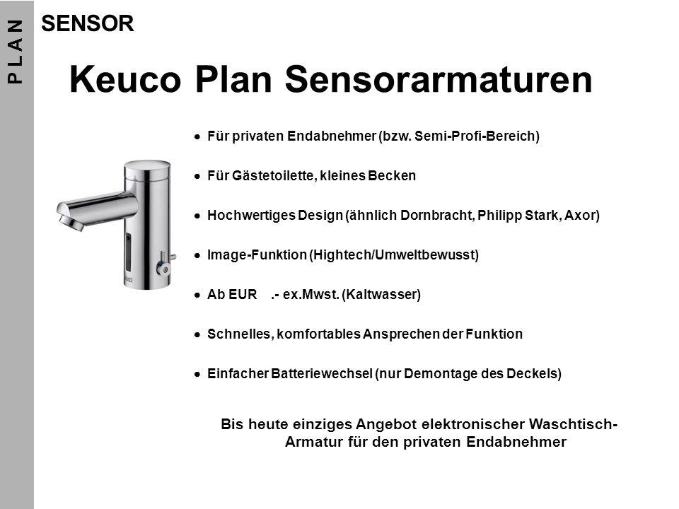 Keuco Plan Sensorarmaturen