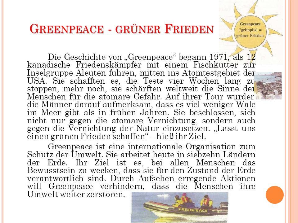 Greenpeace - grüner Frieden