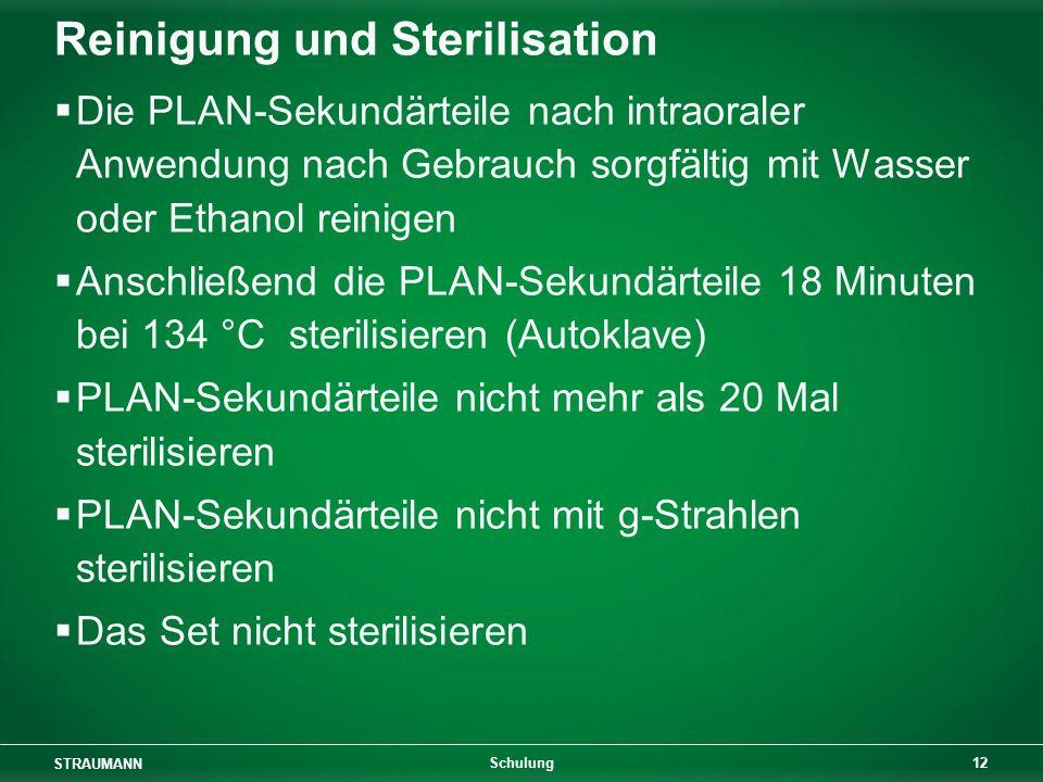 Reinigung und Sterilisation