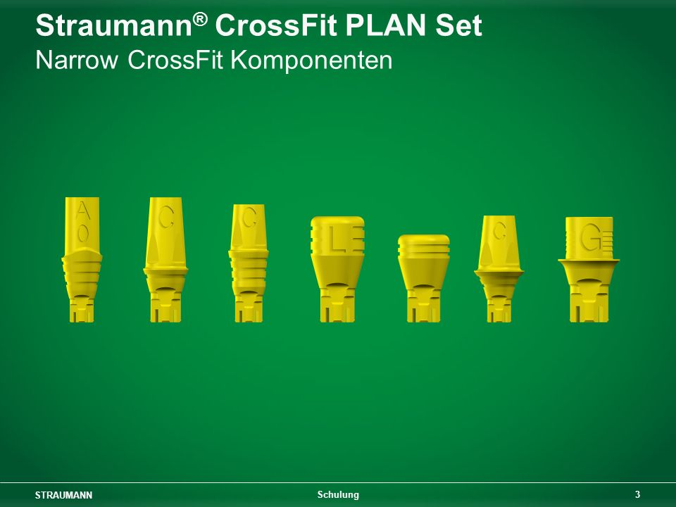 Straumann® CrossFit PLAN Set Narrow CrossFit Komponenten