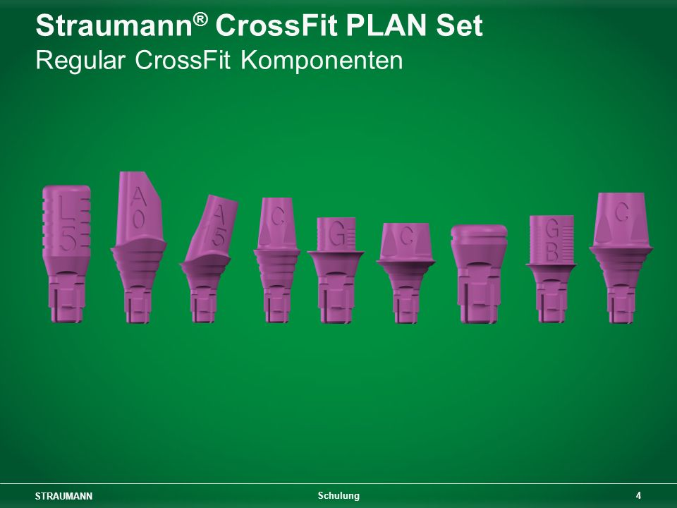 Straumann® CrossFit PLAN Set Regular CrossFit Komponenten
