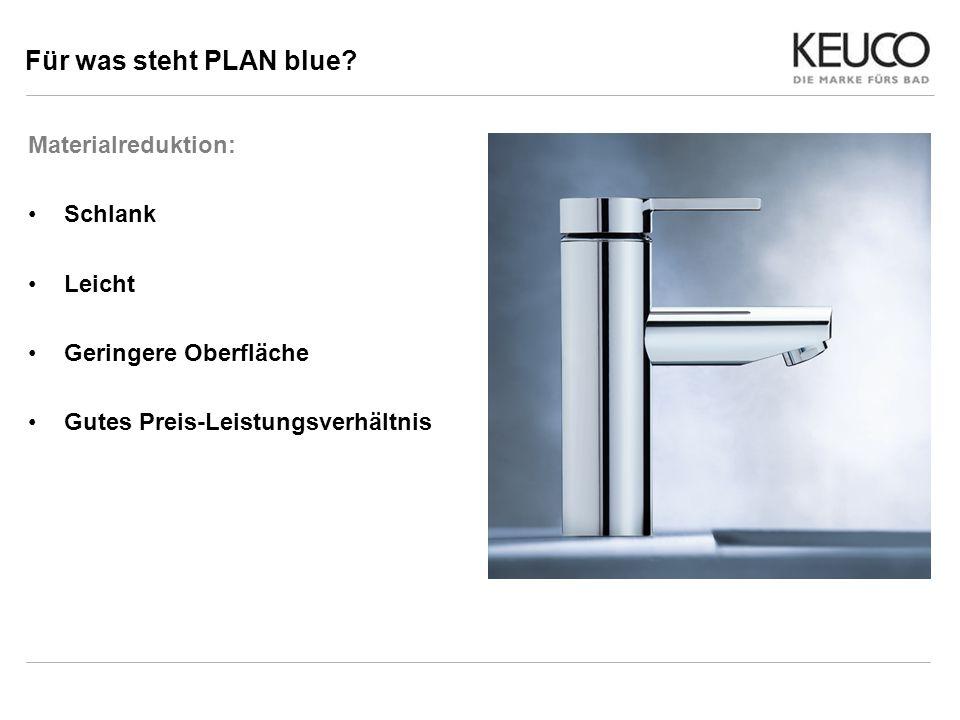 Für was steht PLAN blue Materialreduktion: Schlank Leicht