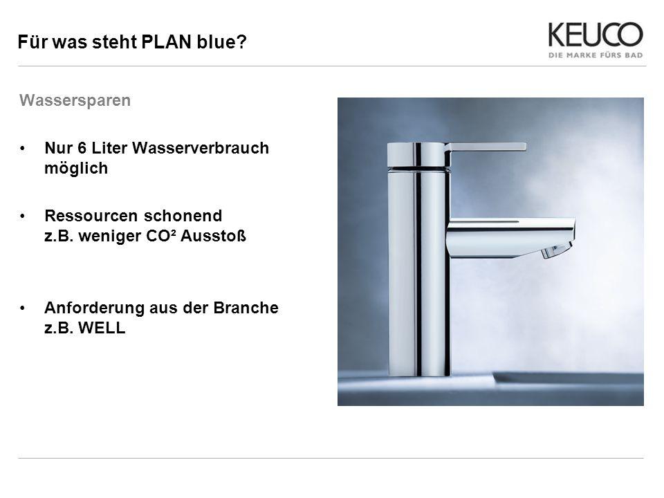 Für was steht PLAN blue Wassersparen