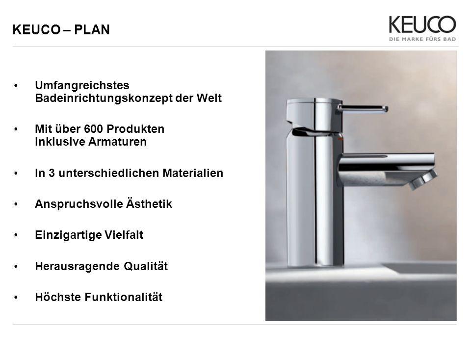 KEUCO – PLAN Umfangreichstes Badeinrichtungskonzept der Welt