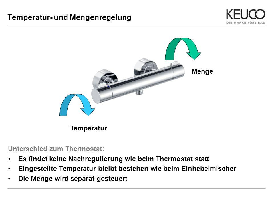 Temperatur- und Mengenregelung