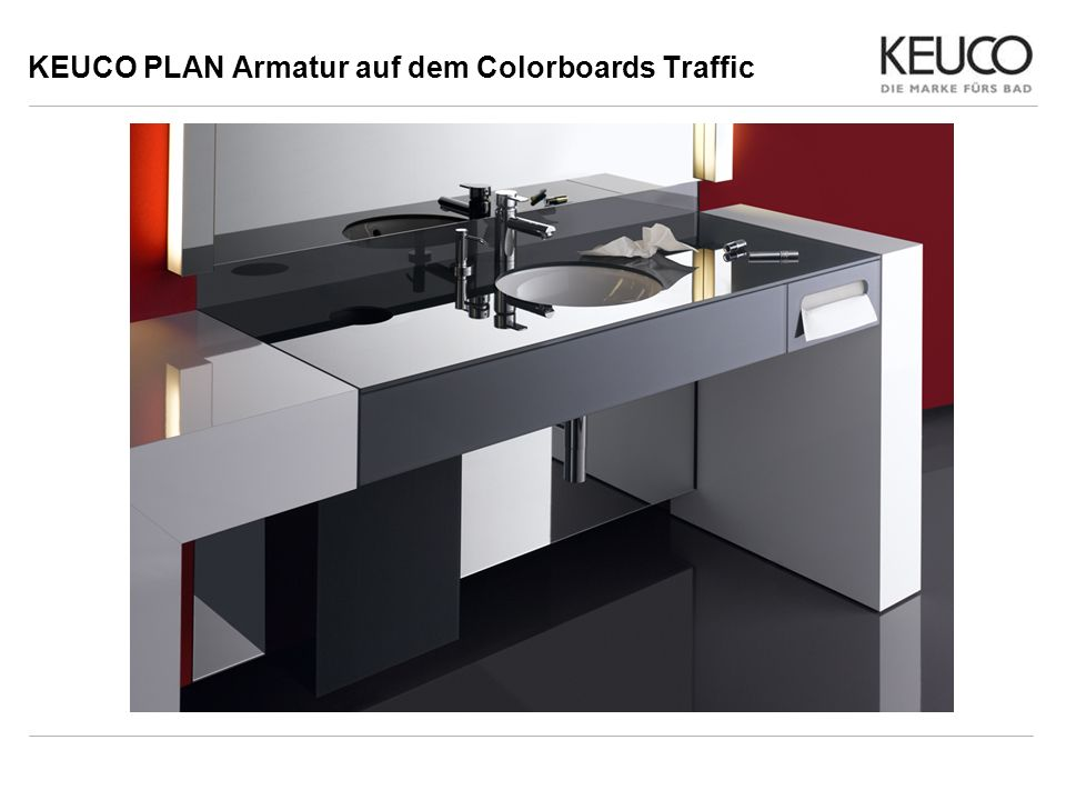KEUCO PLAN Armatur auf dem Colorboards Traffic