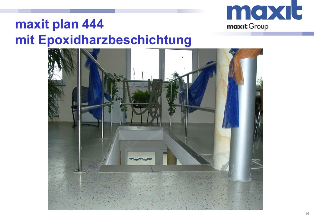 maxit plan 444 mit Epoxidharzbeschichtung
