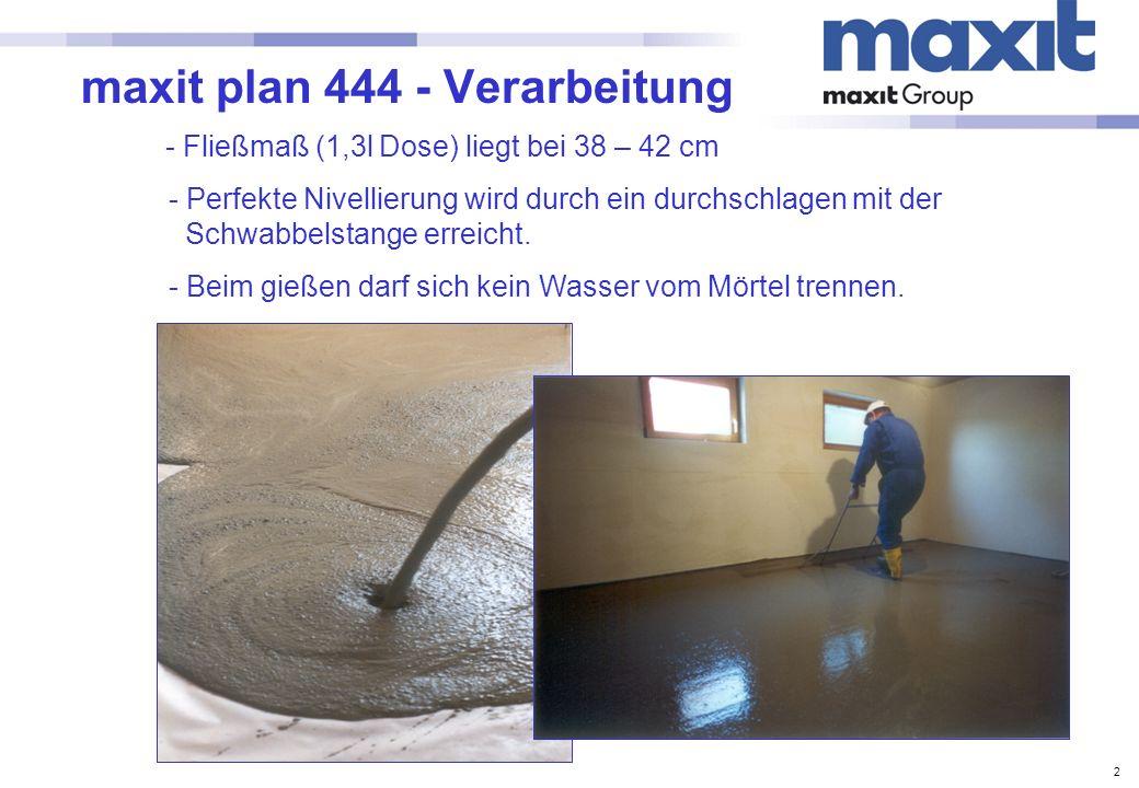 maxit plan 444 - Verarbeitung