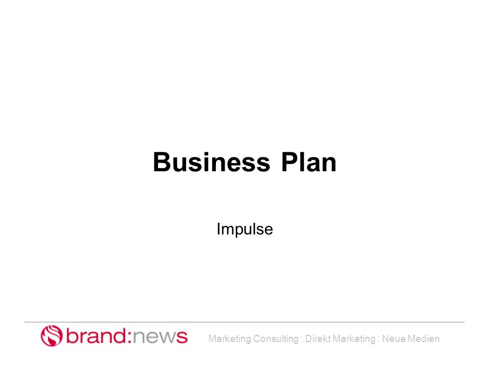 Business Plan Impulse