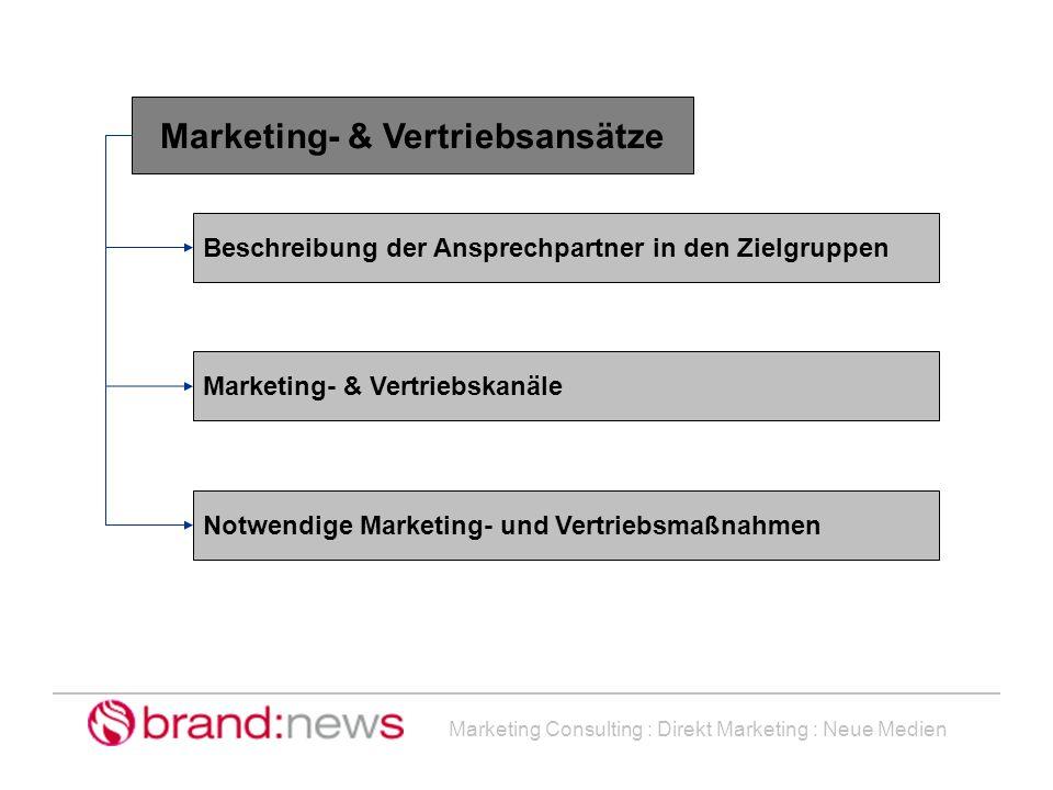 Marketing- & Vertriebsansätze