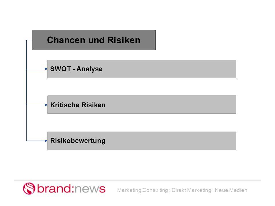 Chancen und Risiken SWOT - Analyse Kritische Risiken Risikobewertung