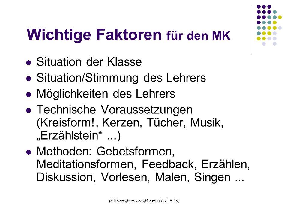 Wichtige Faktoren für den MK
