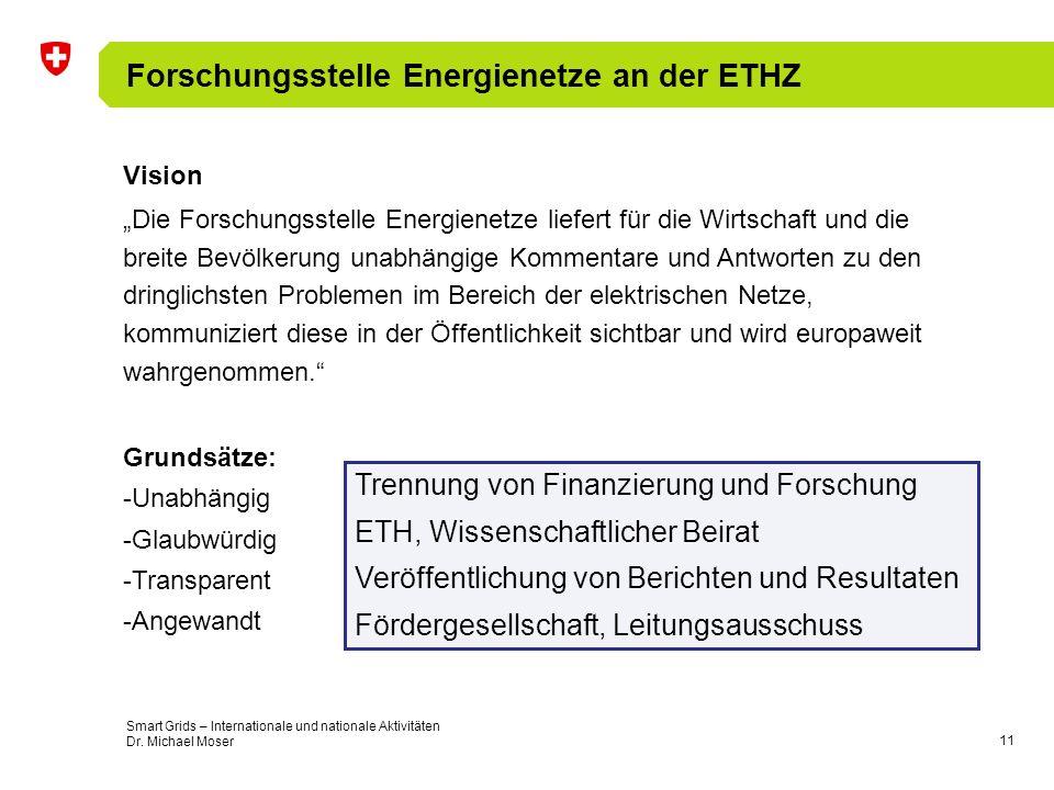 Forschungsstelle Energienetze an der ETHZ