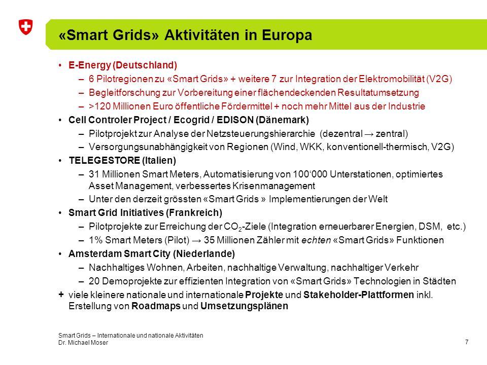 «Smart Grids» Aktivitäten in Europa