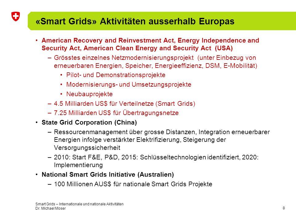«Smart Grids» Aktivitäten ausserhalb Europas