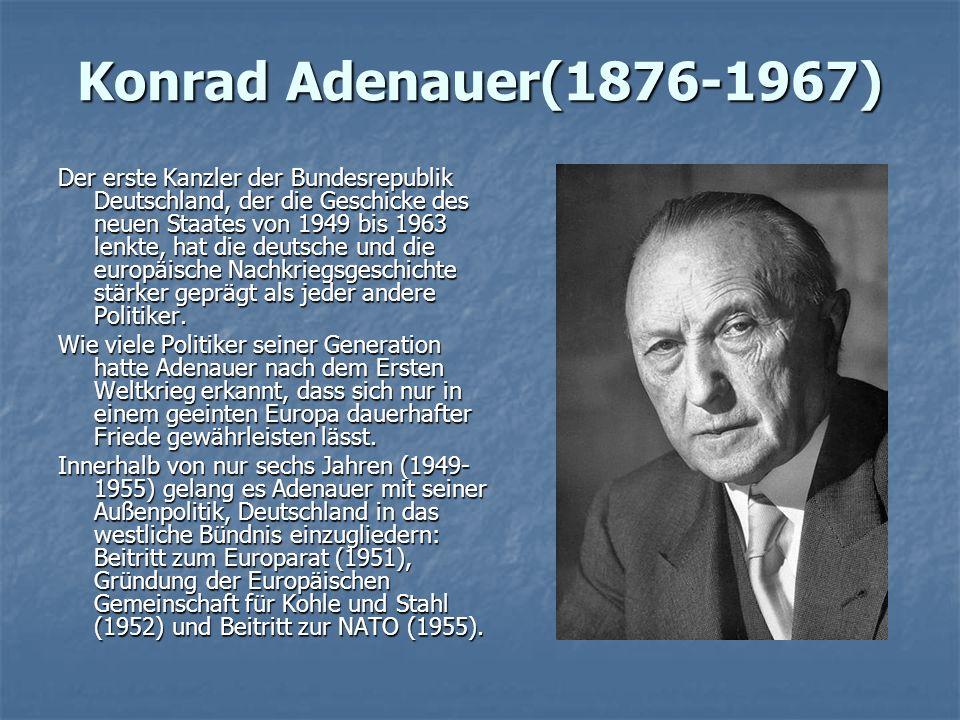Konrad Adenauer(1876-1967)