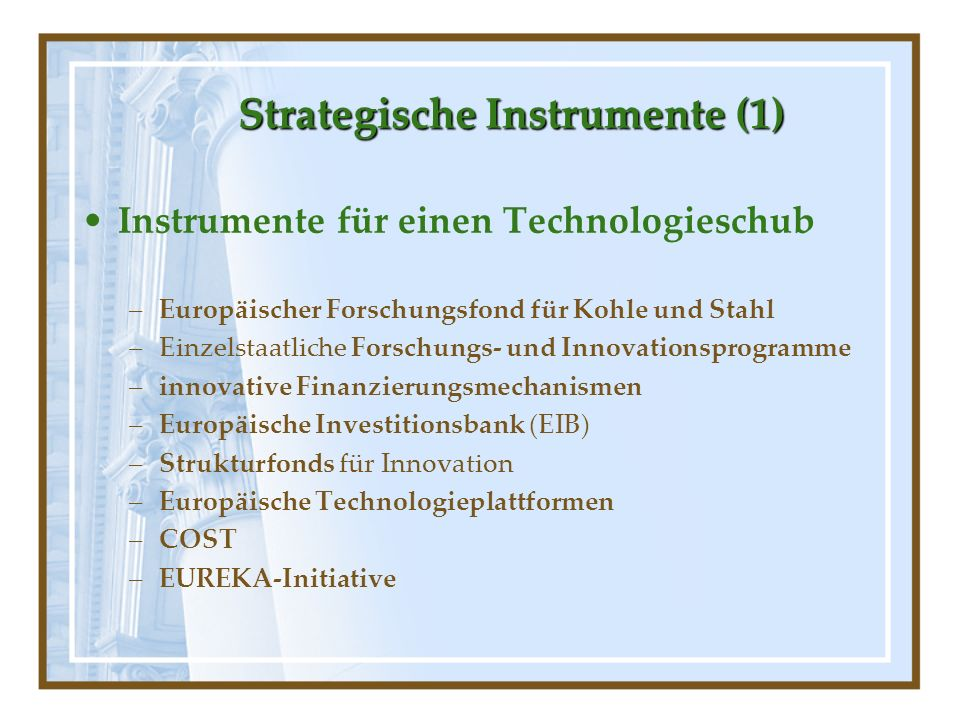 Strategische Instrumente (1)