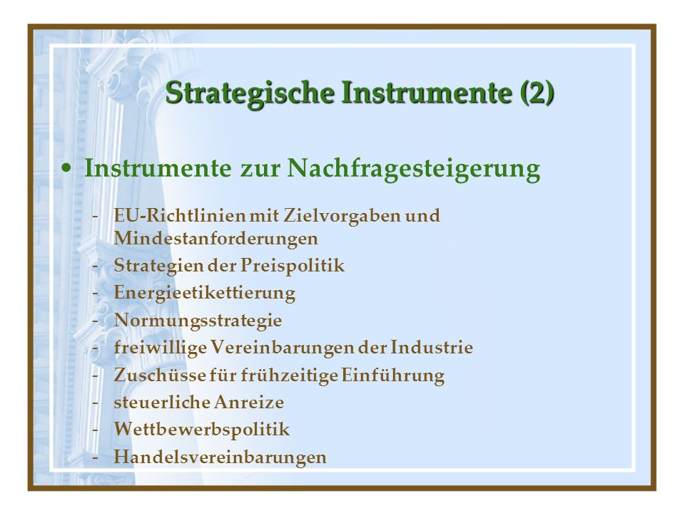 Strategische Instrumente (2)