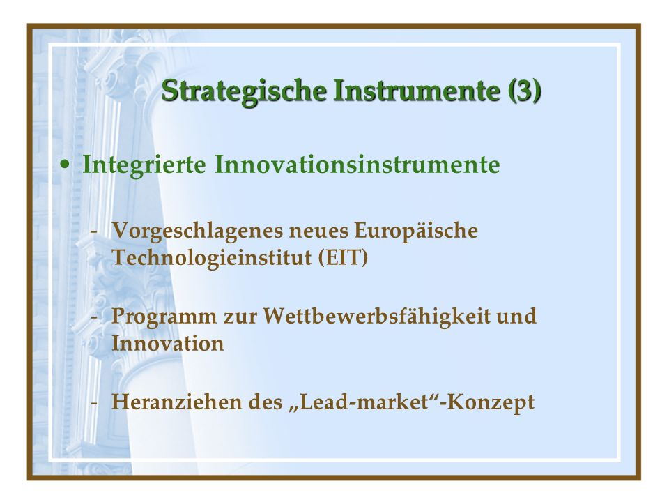 Strategische Instrumente (3)