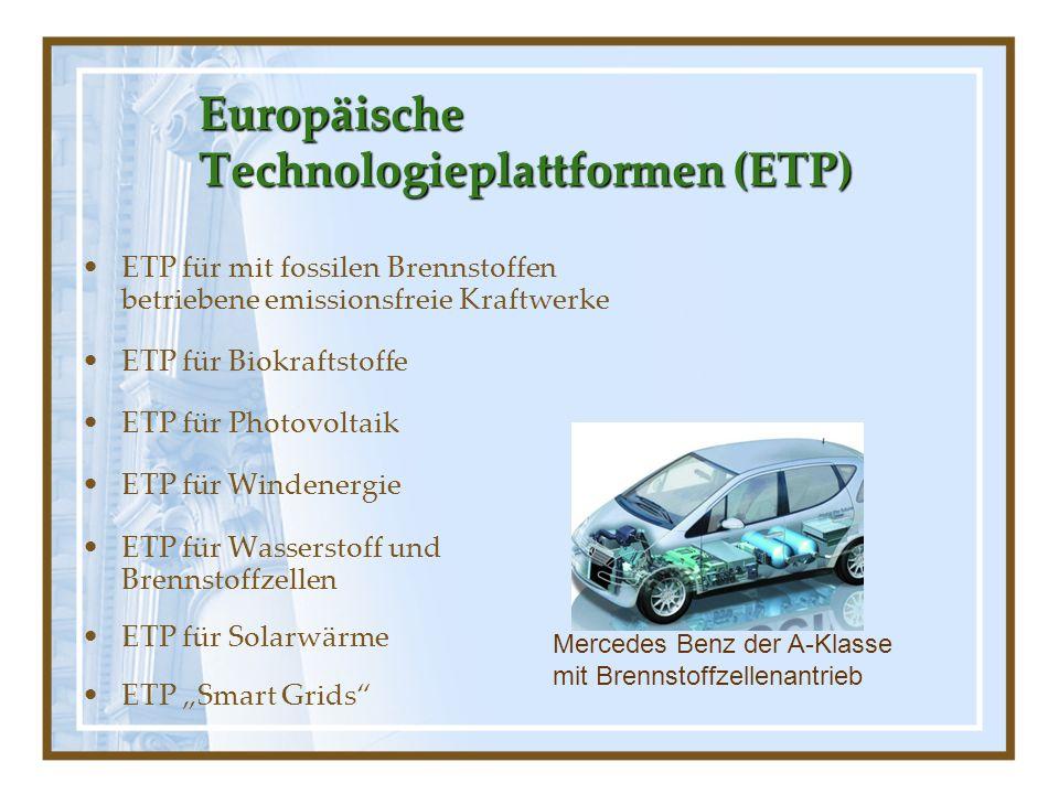Europäische Technologieplattformen (ETP)
