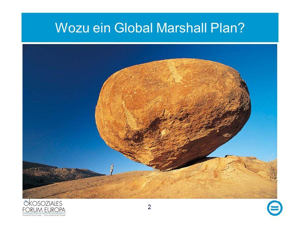 Wozu ein Global Marshall Plan