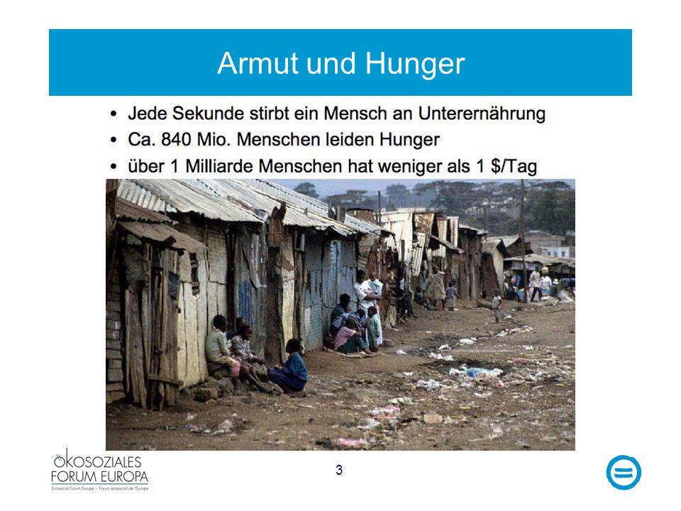 Armut und Hunger