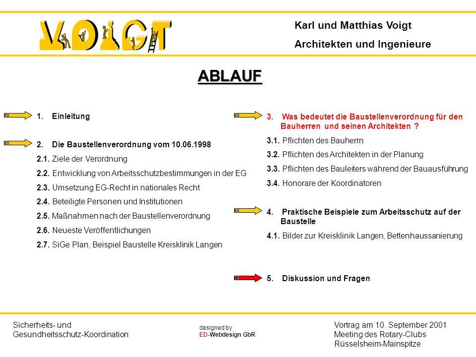 ABLAUF Karl und Matthias Voigt Architekten und Ingenieure