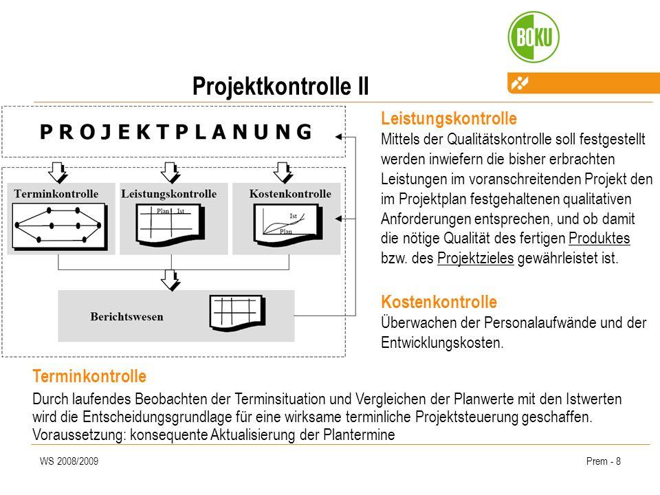 Projektkontrolle II
