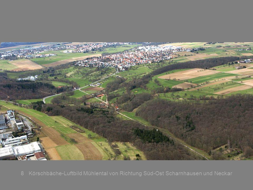 8 Körschbäche-Luftbild Mühlental von Richtung Süd-Ost Scharnhausen und Neckar
