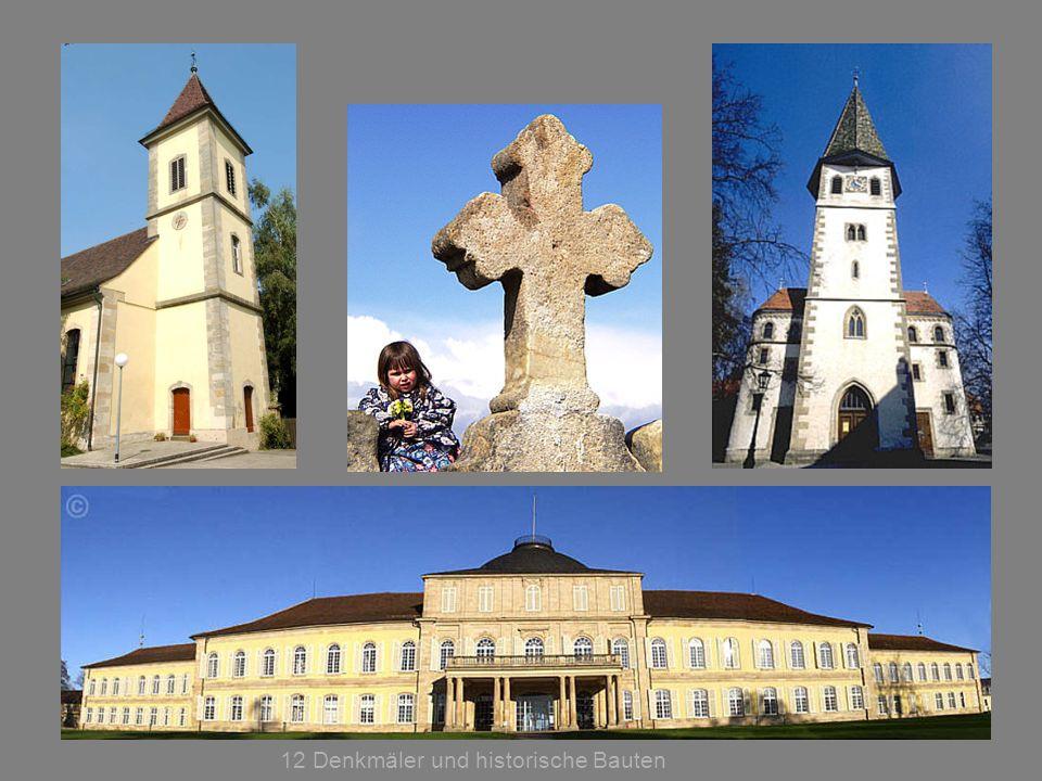 12 Denkmäler und historische Bauten