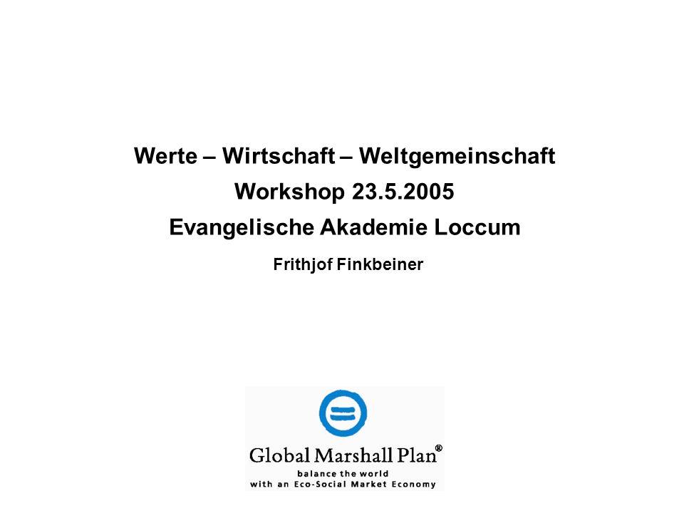 Werte – Wirtschaft – Weltgemeinschaft Evangelische Akademie Loccum