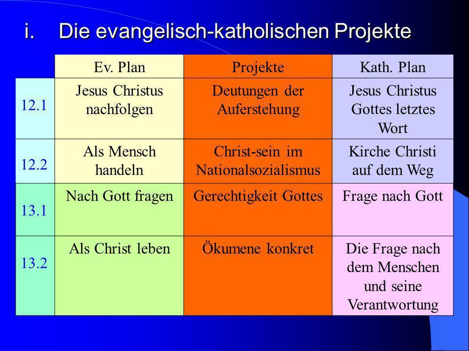 i. Die evangelisch-katholischen Projekte