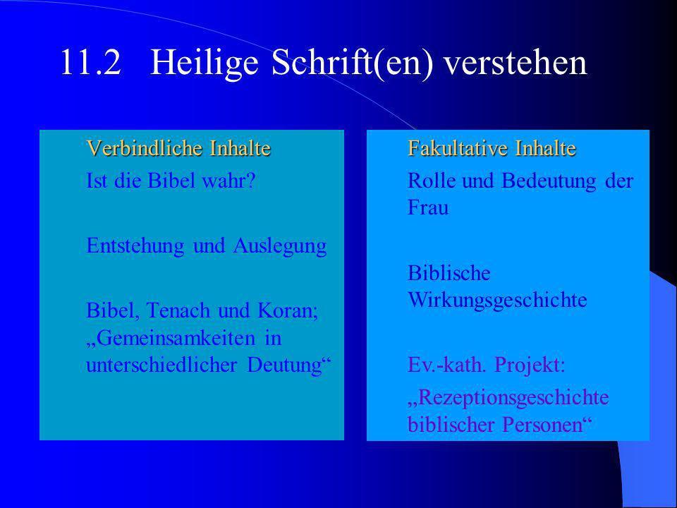 11.2 Heilige Schrift(en) verstehen