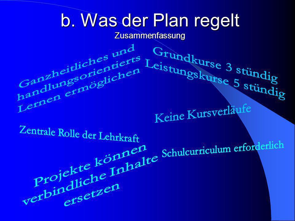 b. Was der Plan regelt Zusammenfassung